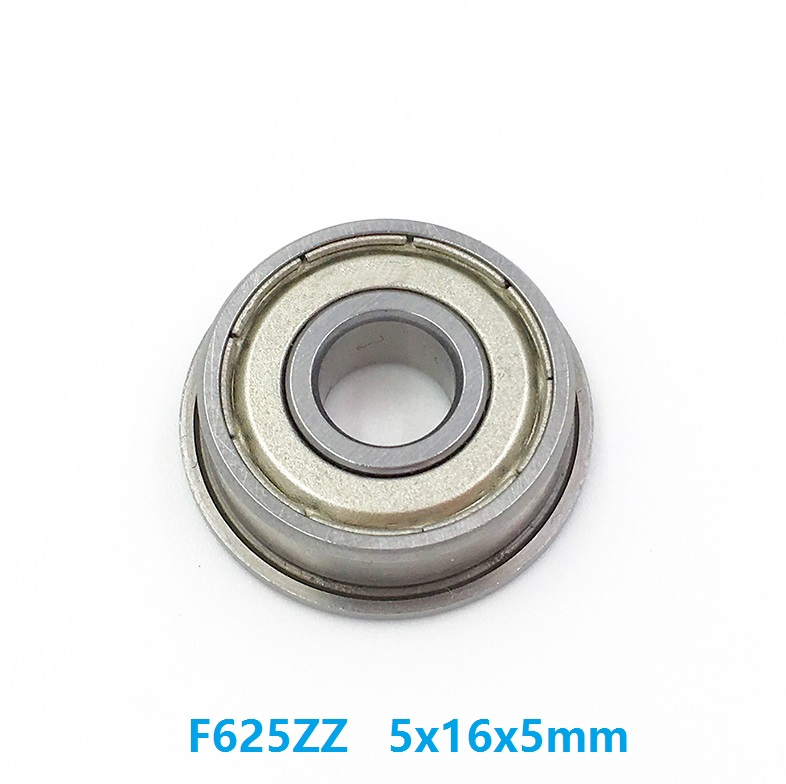 20pcs/50pcs/100pcs Flanged <font><b>bearing</b></font> F625ZZ F625Z F625-ZZ Z 5x16x5mm miniature shielded flange deep groove ball <font><b>bearings</b></font> <font><b>5*16*5</b></font> mm image