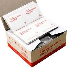 20-50-100pcs Povidone-lodina almohadilla de preparación sellada esterilizada desinfección de heridas para el hogar viaje al aire libre campamento Primeros Auxilios Kits Accesorios