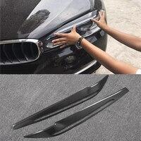X5 F15 Carbon Fiber Car Headlight Eyelid Eyebrows Cover Trim Sticker for BMW X5 F15 2014 2017