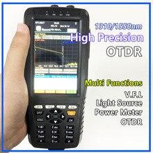 גבוהה דיוק OTDR Tester האופטי מתחם זמן Reflectometer 4 ב 1 OPM OLS VFL מגע מסך 3m כדי 60km טווח מכשיר אופטי