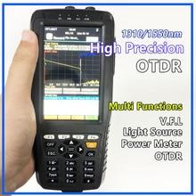 Probador OTDR de alta precisión, reflectómetro de dominio de tiempo óptico 4 en 1 OPM OLS VFL pantalla táctil 3m a 60km, instrumento óptico de rango