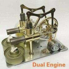 Modelo de Motor de equilibrio de Motor Stirling modelo de Motor de calor Educación de vapor DIY modelo de juguete regalo para niños ornamento de artesanía alternador de descubrimiento