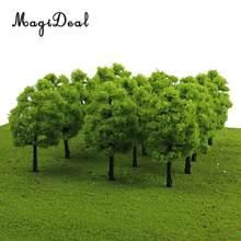 Magideal 20 pçs/lote 1/100 balança mini modelo de plástico, árvores, trem ferroviário, cenário para casa, sala de aula, parque, layout, cenário, crianças, brinquedo