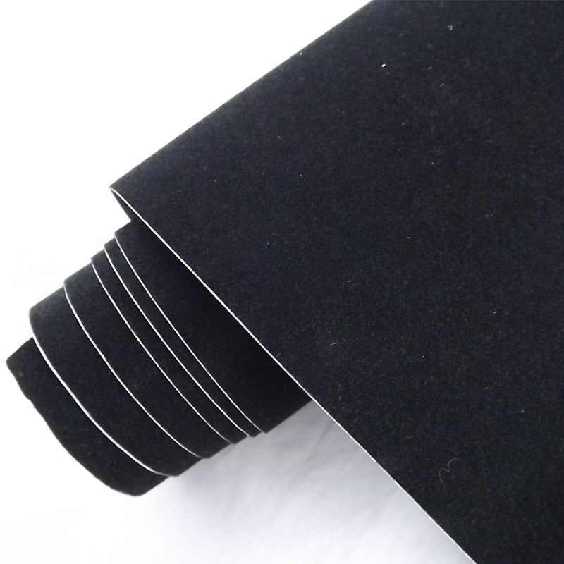 Hot sale 1.35x15m air release channel car sticker peach skin vinyl wrap film velvet car wrap film