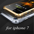 Luxo luphie alumínio fino metal frame bumper case capa para apple casos de telefone iphone 7 case anti-knock para iphone 7 plus case
