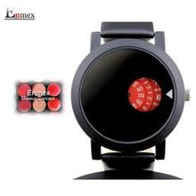 Diseño creativo señora reloj Enmex tiempo colorido breve tiempo simple en la circular el concepto de maquillaje de moda relojes de cuarzo