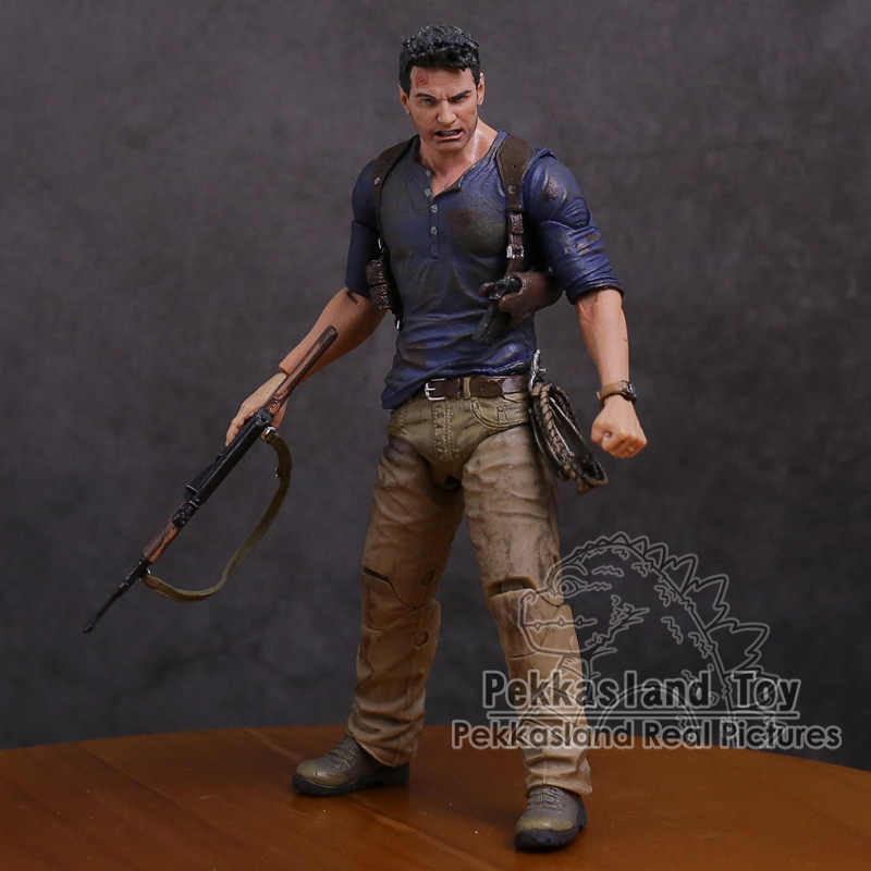 NECA Uncharted 4 Een dief's end NATHAN DRAKE Ultimate Edition PVC Action Figure Collectible Model Speelgoed 18 cm