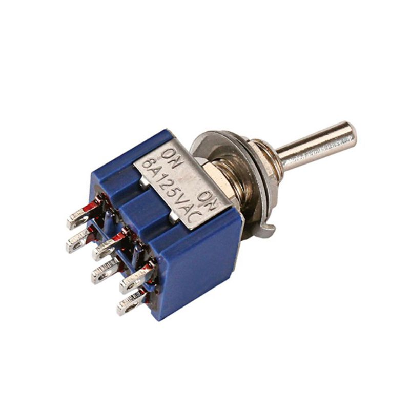 Toggle Switch DPDT 2 Position Latching 6 Terminals ONON 6A 125VAC For Guitar Bass Effect Amp