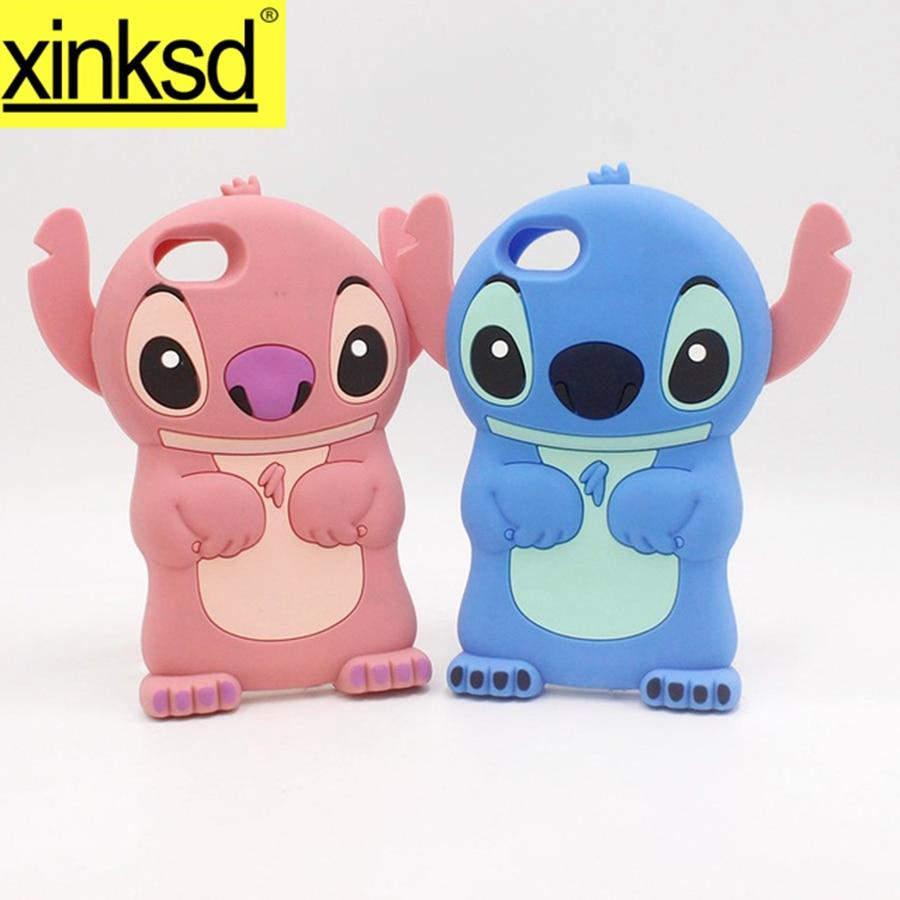 online store 1c564 cfd23 US $2.54 23% OFF|Luxury Cute Lilo Stitch Phone Case Cover For iPhone 7 Plus  4 4S 5 5S SE 5C 6 6S Plus 7Plus 6Plus Soft Silicone 3d Para Fundas-in ...
