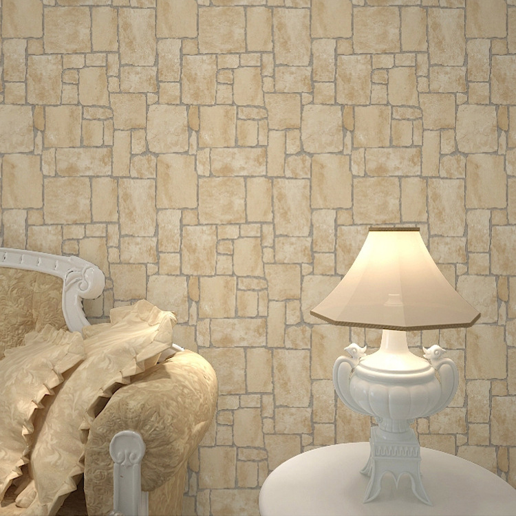 BOUTIQUE STENCILS Vintage Brick Wallpaper PVC Wall Paper Rolls