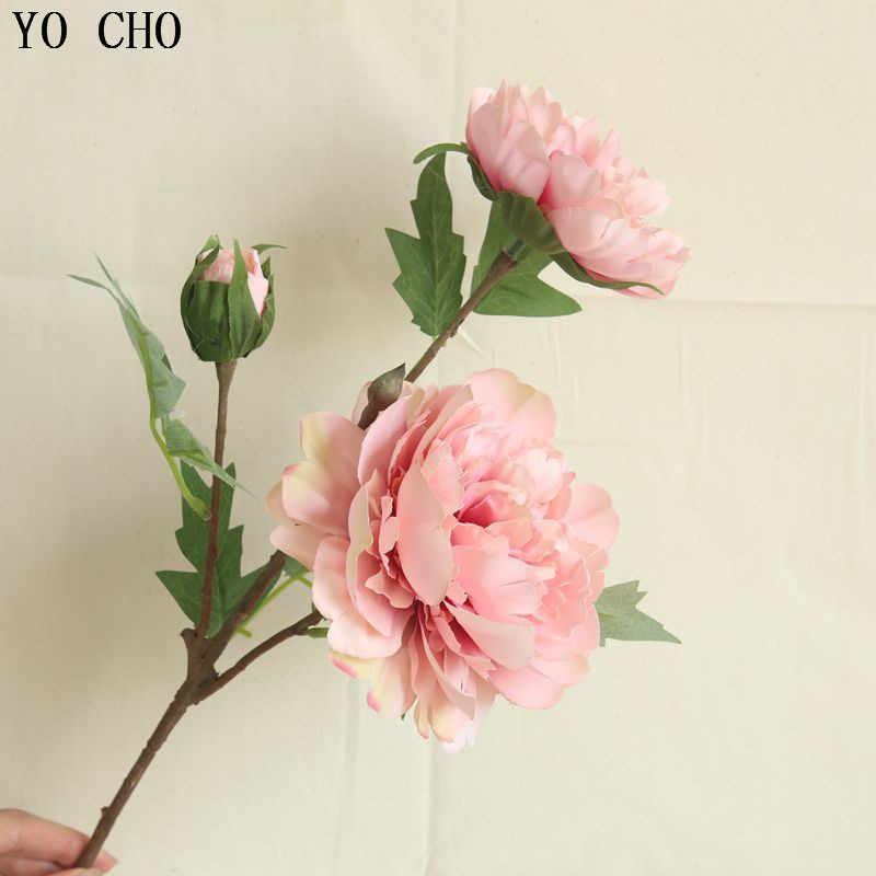 YO CHO Grande Peonia Bianca Artificiale del Fiore della Rosa Arredamento Per La Casa della Festa Nuziale Di Natale Addobbi Floreali di Fiori Cinese Falso Fiore di Peonia