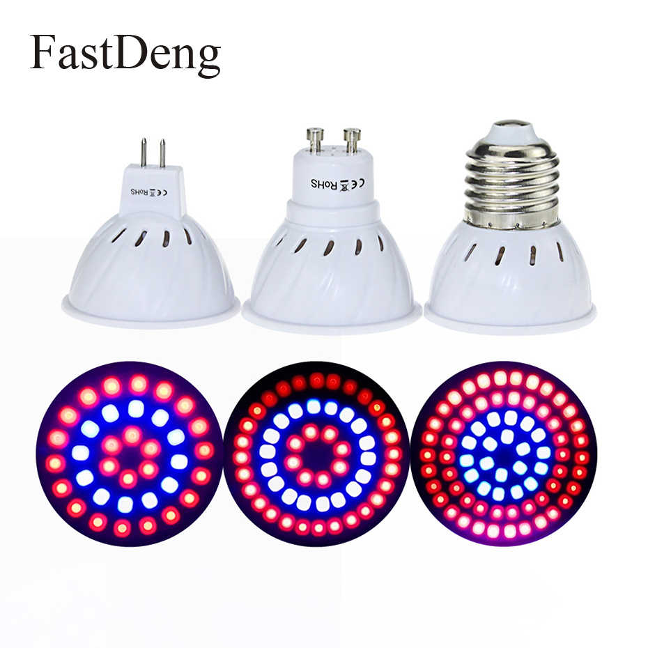 Full spectrum Plant Grow Led Light Bulbs Phyto Lamp lighting E27 GU10 MR16 SMD 2835 LED Red+Blue Plant Grow Light 36 54 72 LEDs