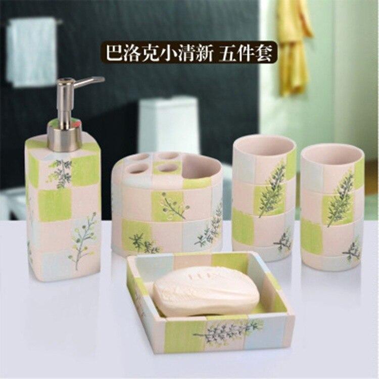 Promoción de accesorios de baño de resina   compra ...