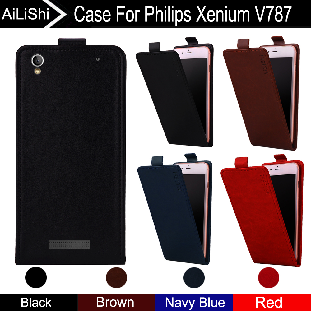 AiLiShi For <font><b>Philips</b></font> Xenium <font><b>V787</b></font> Case Up And Down Vertical Phone Flip Leather Case <font><b>V787</b></font> Phone Accessories 4 Colors + Tracking! image