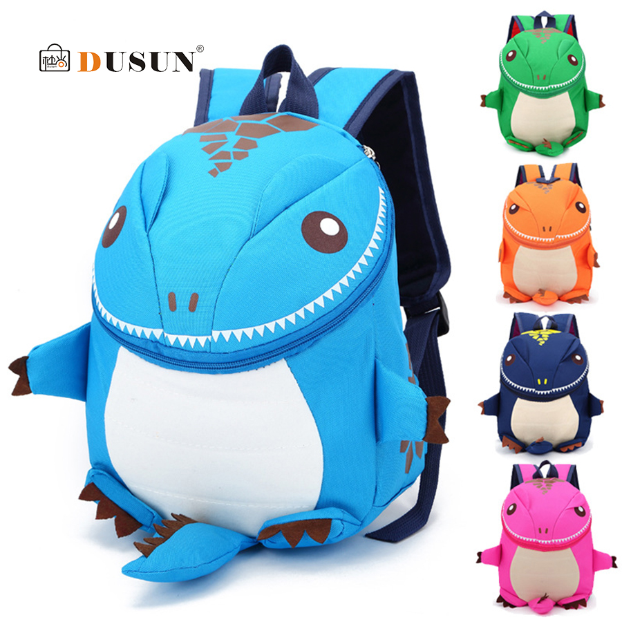 DUSUN 3D Dinosaur Backpack For Boys Children Backpacks kids kindergarten School Bag Small Girls Animal Cartoon Bookbag Mochila forudesigns cute cartoon winx club girls school bags small children book bag for kindergarten women shoulder bag kids mochila