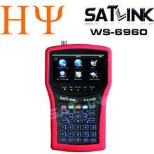 1pc Satlink WS-6960 ws6960 4.3 inch HD display DVB-S&DVB-S2 HD MPEG4 satlink 6960 Satellite Finder satllite Meter receiver