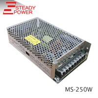 Free Shipping MS 250 12 Smps Transformer Ac Dc Regulated 250w Power Supply Unit 12 Volt 20 Amp Led Strip Lights Driver