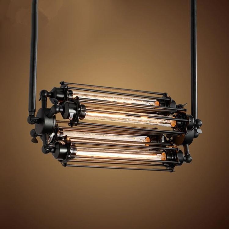 Village Pendentif Lumières Avec 110 V/220 V E27 Edison Ampoule Rétro À Vapeur De L'industrie Punk Style Restaurant Bar Loft Lampe