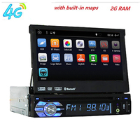 Universal 1 din Android Car DVD Player 8.1 Quad Core GPS Wifi BT BT Radio 2GB RAM 16GB ROM 16GB 4G SIM steering wheel RDS