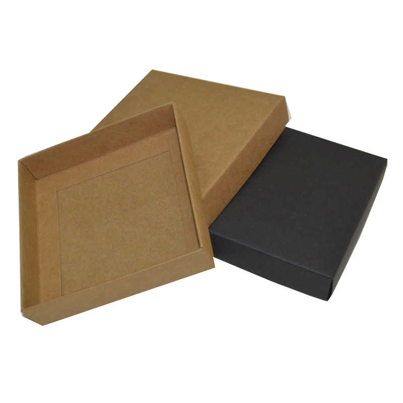 10pcs Large Carton Box With Lid Custom Logo Gift Boxes Carton Box Packaging Black Kraft White Gift Box Big Dropshipping