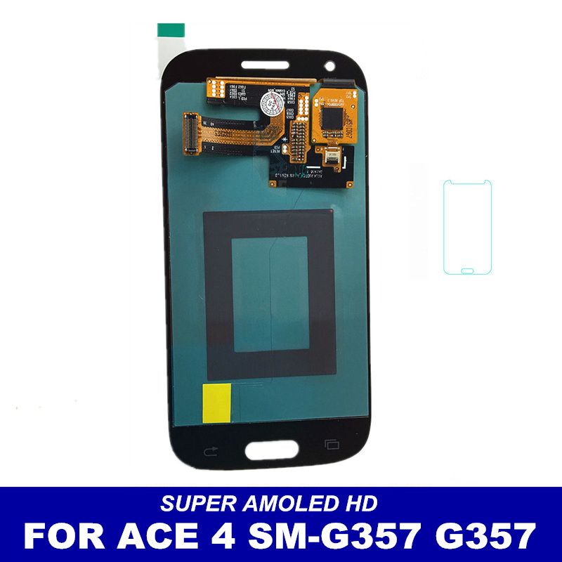 imágenes para 100% Prueba AMOLED pantalla Para Samsung Galaxy Ace 4 ACE4 SM-G357 G357 G357FZ Pantalla Táctil Digitalizador Reemplazo Asamblea