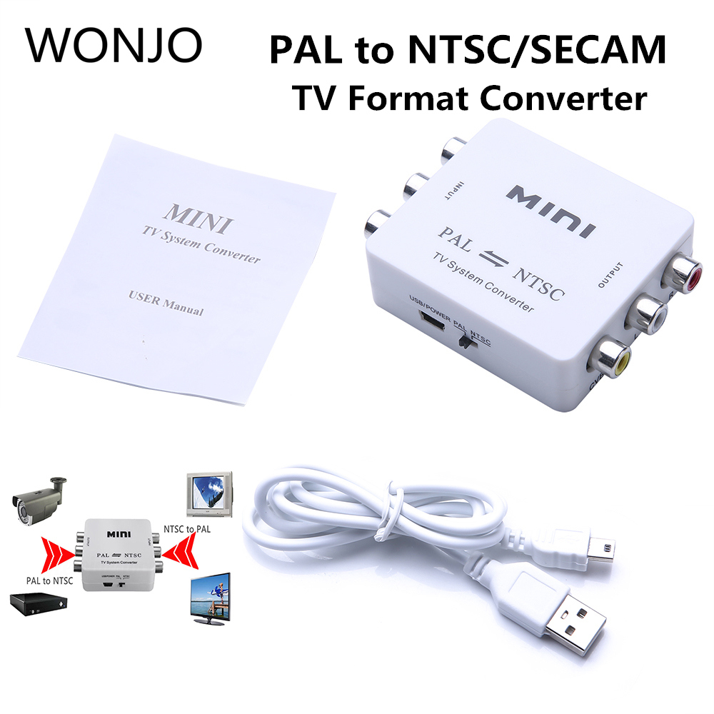 Mini Conversion Portable TV PAL to NTSC or NTSC TO PAL Dual Way Format Video System Converter Composite PAL NTSC Connection