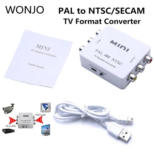 המרת מיני נייד טלוויזיה PAL לntsc או NTSC ל PAL כפול דרך פורמט וידאו מערכת ממיר מרוכבים PAL NTSC חיבור