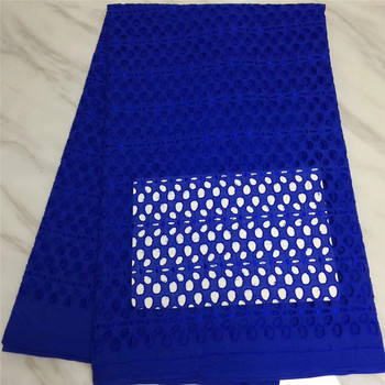 blue nigerian lace fabric 2019 high quality lace with holes swiss lace for wedding 5yards latest african laces fabrics
