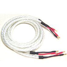 Hifi pair LITON 6N OFC Hi-end Hifi Speaker Cable with Banana Plugs 2 to 2