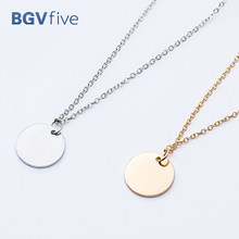Minimalist Fine Thin Link Vhain Small Wafer Necklaces Pendants Choker Necklace For Party(China)