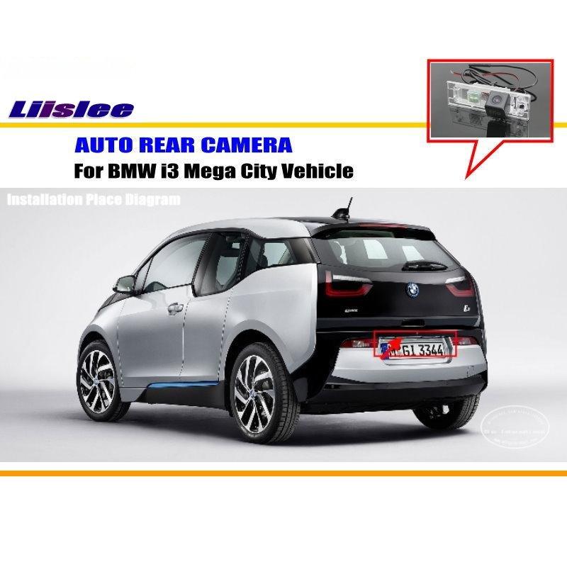 car camera For BMW i3 Mega City Vehicle - Rear View Camera Backup Parking Camera HD CCD RCA NTST PAL / License Plate Light CAM