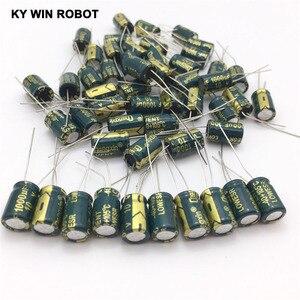 Image 3 - free shipping 50pcs Aluminum electrolytic capacitor 1000uF 10V 8*12 Electrolytic capacitor