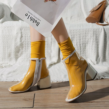 Riding Equestrian ankle boots for women shoes 2019 New Boots Martin Boots Transparent Shoes sock shoes women sneakers booties цены онлайн