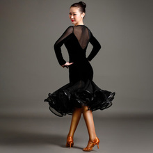 High-end Art Clothing Velvet Latin Dance Dress Clothing Clothing Set Sexy Women Tango Ballroom Salsa Stage Dancewear
