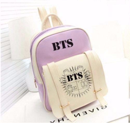 [NEWTALL] 2017 Kpop BTS Bangtan Boys Backpack Student Schoolbag Satchel Shoulder Bag Jung Kook Style Fans Collection 17031119 упоры капота автоупор для changan cs35 2014 2 шт