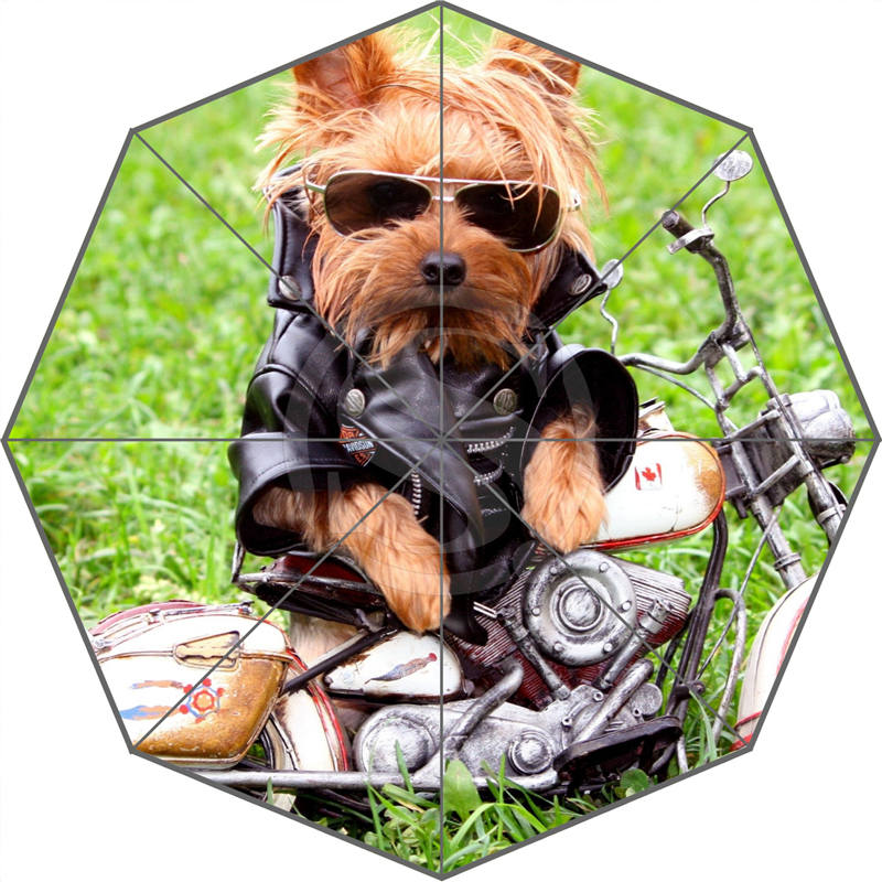 W530L7 Hot Sale Fashion Custom yorkshire terrier dog shaggy Umbrella Sunny and Rainy Sunscreen Anti-uv Umbrella F-L7