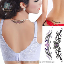 Individuality Waterproof Temporary Tattoos For Lady Women 3d Sexy Crown Jewelry Design Tattoo Sticker RC2220