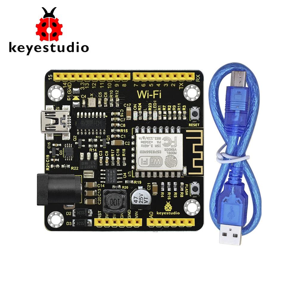 Keyestudio ESP8266 WI-FI Development Board+USB Cable For Arduino /Based on ESP8266-12FWIFI /Support RTOSKeyestudio ESP8266 WI-FI Development Board+USB Cable For Arduino /Based on ESP8266-12FWIFI /Support RTOS