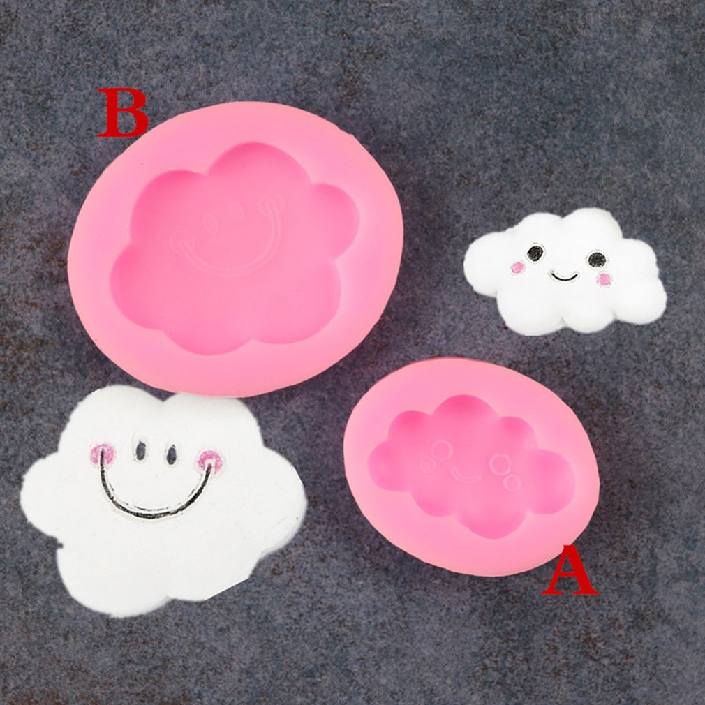 Smiley Cute Cloud Fondant Silicone Mold Diy Tools For Kitchen Household in Cake Molds from Home Garden