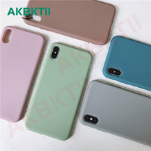AKBKTII Matte Candy Color Soft TPU Case for iPhone XS Max Case XR iPhone 7 Plus 8 Plus 6 6s Anti-Fingerprint Simple Back Cover matte anti fingerprint soft tpu case for iphone 6s 6 4 7 inch black