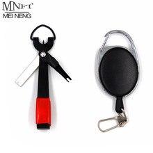 Mnft pro ferramenta de pesca rápida, gravata para unha, cortador de linha, equipamento retrator w/zinger acessórios