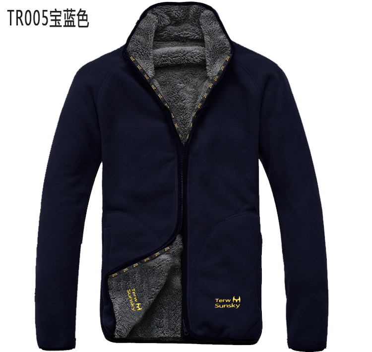 Outdoor sports thick warm fleece jacket-in Jackets from Men's ...