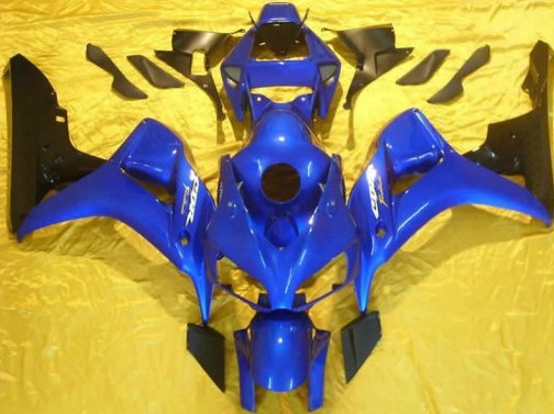 Hot Sales,Body Work Kit For Honda CBR1000RR 2006-2007 CBR 1000 RR 06 07 Blue and Black Motorcycle Fairings (Injection molding)