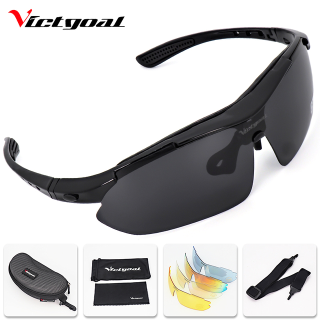 f33b6281223 VICTGOAL Cycling Glasses Polarized UV400 Cycling Sunglasses Men Women  Outdoor Sport Bicycle Eyewear 5 Lens Mountain Bike Glasses