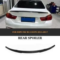 4 Serie Carbon Achterspoiler kofferdeksel Boot lip Vleugel voor BMW F82 M4 Coupe 2 deur 2014-2017 O Stijl Auto Racing