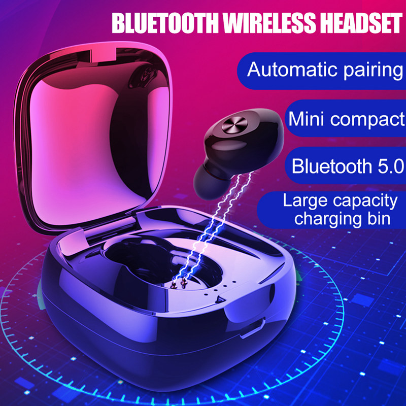 Image 2 - TWS XG 13 Mini Dual V5.0 Wireless Earphones Bluetooth Earphones 3D Stereo Sound Earbuds with Dual Microphone With Charging box-in Bluetooth Earphones & Headphones from Consumer Electronics