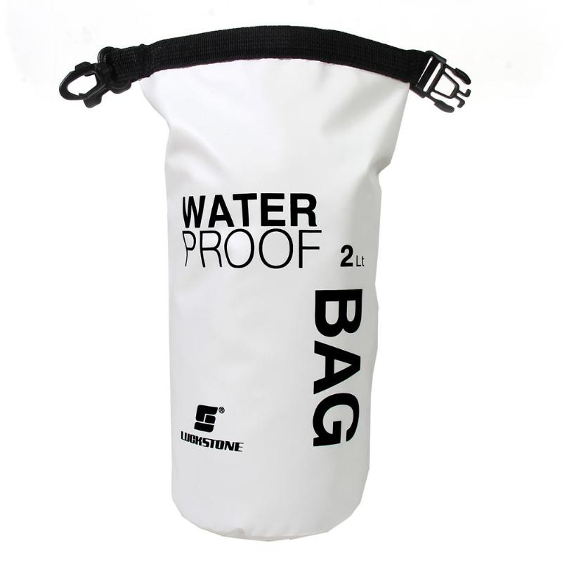 2/10/20/40L Waterproof PVC Dry Sack Sports Bag Multi-function Outdoor Hiking Cli