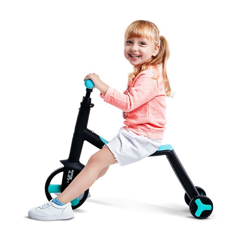 3 en 1 enfants coup de pied trottinette Tricycle Balance vélo enfant tour sur jouet garçon fille Scooter réglable bambin anniversaire cadeau voiture - 4