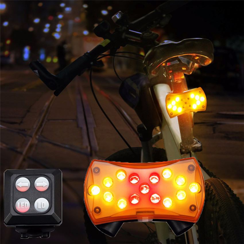 New Wireless Control Turn Signal Light for Bicycle Turning Bike Lights USB Rechargeable LED Safety Warning Lamp Torch M20