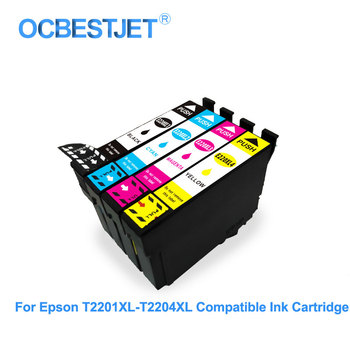 T220 T220 XL Compatible Ink Cartridge With Chip For Epson WorkForce WF2630 WF2650 WF2660 XP320 Full Ink Cartridge With Dye Ink